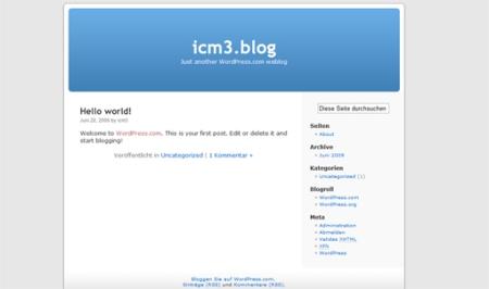 Der Blog ist eingerichtet