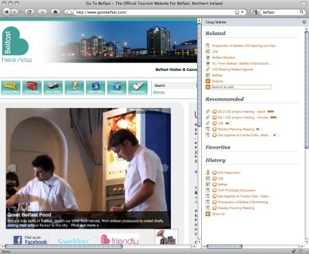 plugin Firefox sidebar (c) Gnowsis